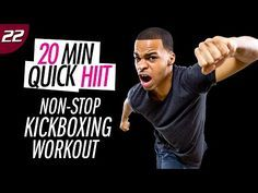 20 Min. Non-Stop Quick Cardio Kickboxing Sweat Fest | 20 Min. Quick HIIT #22 - YouTube
