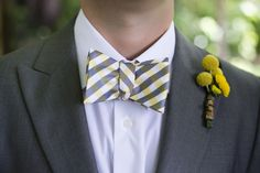 Yellow and gray botanic garden wedding - see more at http://fabyoubliss.com