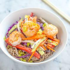 ... sweet pickled vegetables over a bed of slurp-tastic cold soba noodles