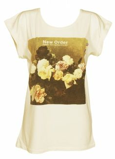 Ladies Ecru New Order Power Corruption And Lies T Shirt
