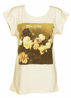 Ladies Ecru New Order Power Corruption And Lies T Shirt