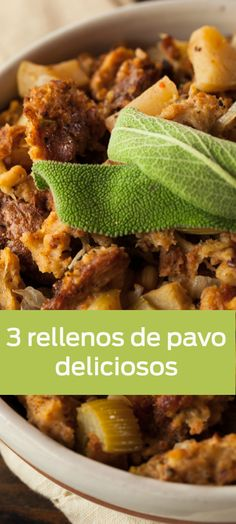 3 rellenos de pavo súper ricos y originales para preparar esta Navidad. Turkey Recipes, Mexican Food Recipes, Chicken Recipes, Healthy Protein Shakes, Turkey Stuffing, Deli Food, Cooking Recipes, Healthy Recipes, Roasted Turkey