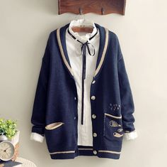 "Style:sweet japanese,sweater coat,cardigan jacket,korean fashion Pattern:fish Fabric material:cotton blend Color:gray,beige,dark blue Size: one size Bust:98cm/38.58"" Shoulder:49cm/19.29"" Sleeve length:53cm/20.86"" Length:65cm/25.59"" Tips: *Please double check above size and consider ..."