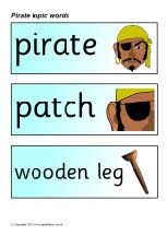 Pirate Word Cards