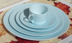 Martha Stewart Collection Dinnerware, Skylands Blue 5 Piece Place Setting