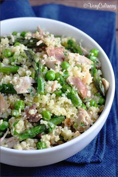 Spring Vegetable Couscous on www.veryculinary.com