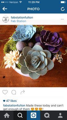 @fabstationfulton felt succulents