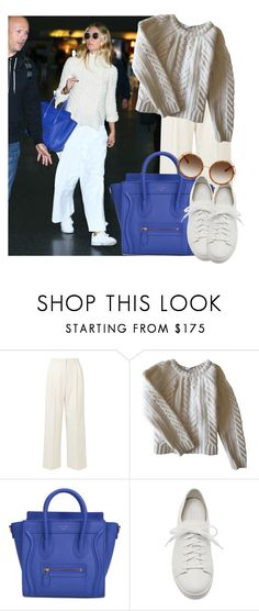 """""""Airport style: Gwyneth Paltrow"""" by francyilaria ❤ liked on Polyvore featuring The Row, Anine Bing, CÉLINE, Santoni, Chloé and airportstyle"""