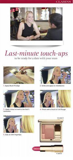 Perfekt gestylt beim ersten Date mit Clarins! #DIY #Beauty #Makeup #Tutorial #firstdate #clarins