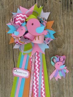 bird baby shower mum-bird baby shower theme-corsage-baby shower