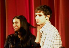 Colin and Katie. (Friendly reminder that women who play with their hair are sometimes flirting. lol)