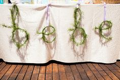 "Love the garden style ""bebe"" lettering for a baby shower"