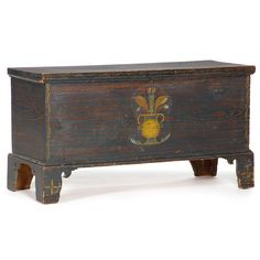 Rare Orange Co, N.C. Paint Decorated Blanket Chest Sold $14,000