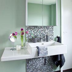 Dark grey tiled bathroom with walk-in shower | Bathroom decorating | housetohome.co.uk | Mobile