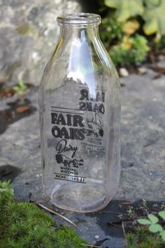 I love vintage milk bottles