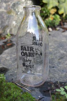 I love vintage milk bottles