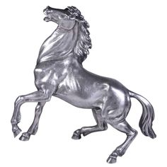 BUCCELLATI Silver Horse | From a unique collection of vintage figurines and sculptures at http://www.1stdibs.com/jewelry/objets-dart-vertu/figurines-sculptures/