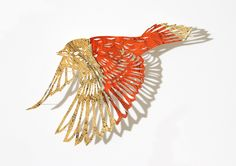 works by British paper artist Claire Brewster. Birds of paradise…