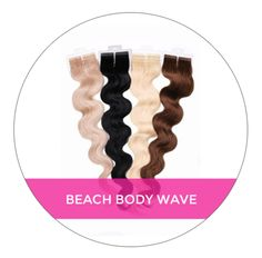 Get super soft and luxurious beach waves in an instant with our Beach Wave Tape In Collection - 100 grams per pack/40 tape wefts per pack. Our Beach Body Wave hair creates soft waves for a beautiful look. This wavy hair extensions blends well with those who have short hair (chin length or shorter) or those who have natural wavy hair. The curls are the perfect wave texture. http://glamseamless.com/collections/seamless-body-wave
