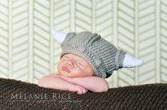 Custom Crochet Viking Helmet madetoorder newborn by lukeOWLlily, $23.00