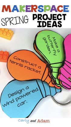 Spring STEM Project Ideas Perfect for a Makerspace, STEM Center, or STEM Lab