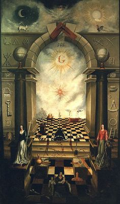 "The Masonic ritual defines Freemasonry as ""a peculiar system of morality, veiled in allegory and illustrated by symbols"". Masonic Art, Masonic Lodge, Masonic Symbols, Masonic Order, Wicca, Magick, Bg Design, Templer, Occult Art"