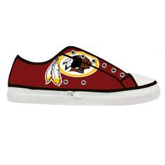 Washington Redskins Flag Custom Canvas Shoes (Women), NFL Custom Shoes, Canvas Shoes Design Vintage