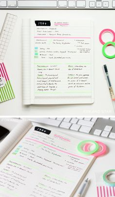 brighten up your note-taking sessions with #washitape