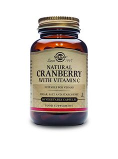 Solgar Natural Cranberry with Vitamin C Vegetable Capsules, 60 Count => Wow! I love this. Check it out now! : Herbal Supplements