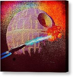 Never Tell Me The Odds Canvas Print by Mark Taylor. Available Now exclusively from Fine Art America & Fine Art Europe. #StarWars