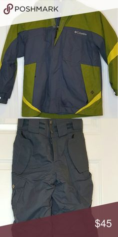 Boys Colombia Coat and Snowpants size 6/7 Boys Colombia Coat and Snowpants size 6/7 Columbia Jackets & Coats