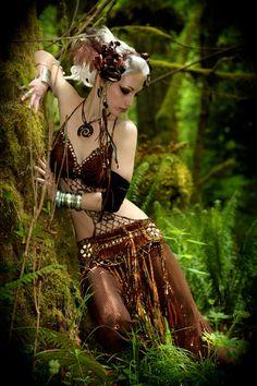 tribal bellydance woodland faerie  costume. $499.00, via Etsy.