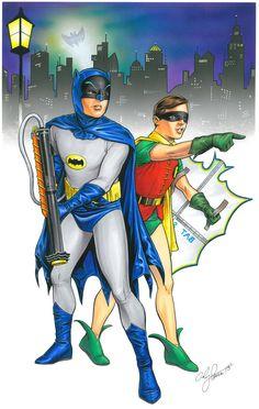 Batman: Gotham City 1966 by Andy Price Batman Y Robin, Batman And Batgirl, Batman 1966, I Am Batman, Batman Stuff, Superman, Dc Comics, Marvel Comics Superheroes, Batman Comics