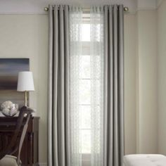 Ivory Beige!!! Royal Velvet® Plaza Grommet-Top Lined Blackout Curtain Panel   found at @JCPenney