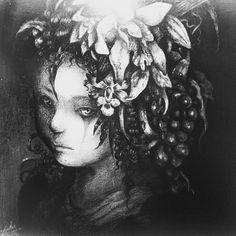 On instagram by sunriseartgalleryandarcade #arcade #microhobbit (o) http://ift.tt/1nzFqWY : Entomophilous Flower Artist : Maiko Kitagawa Medium : Oil Pencil on Paper Mounted on Wood Panel Size : 32x34cm Year : 2013  #arts #fineart #visualart #drawings #woman #flowerstagram #blackandwhite #oil #oilpencils #paper #wood #panels #japaneseartis #maiko #kitagawamaiko #sunriseartgalleryandarcade #sunrise #gallery  #Fairmont #Jakarta #Indonesia