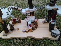 Juguete natural Waldorf - Montessori:  Bosque waldorf o bosque mágico. Duendes, Hadas, gnomos ..... todo es posible.