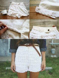 DIY lace shorts=love