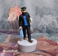 Figurine Capitaine Haddock (dans Tintin).  @LauryRow  https://www.facebook.com/pages/Disneycollecbell/603653689716325