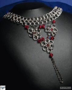 Silver chainmail slave bracelet