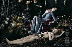 dark forest - This devilishly chic fashion editorial for AnOther Magazine…