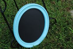 Shabby Chic Turquoise chalkboard by RecycleDesign1971 on Etsy