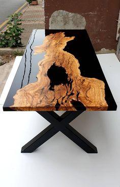 Diy Resin Table, Epoxy Table Top, Epoxy Wood Table, Epoxy Resin Table, Diy Resin Art, Diy Resin Crafts, Esstisch Design, Wood Table Design, Resin Furniture