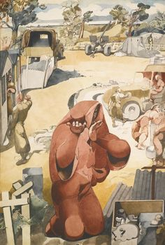 Death and the Soldiers 1942 by Edward Burra (British 1905-1976)