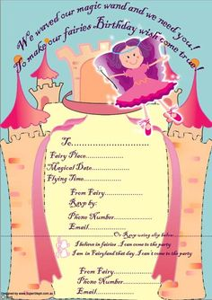 Get your free Gorgeous fairy party invitations HERE http://www.supersteph.com/?q=fairy_birthday_party_Brisbane