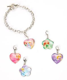 This Disney Princess Charm Bracelet Set by H.E.R. Accessories is perfect! #zulilyfinds