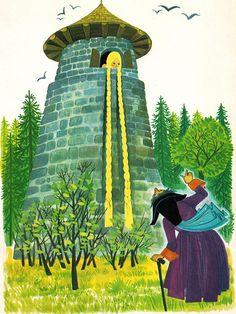 'Rapunzel' Pestalozzi Publishing, 1970, Germany Illustration by Felicitas Kuhn