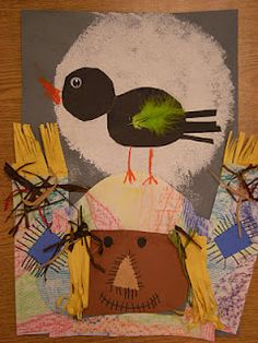 Scarecrows:  Mixed Media --- humans deciding how and when to share with animals