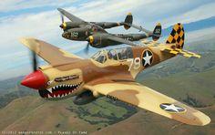 P 38 Lightning and P 40 Warhawk