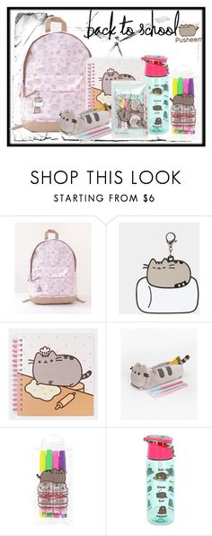 """#PVxPusheen school supplies"" by lindsey-tudor ❤ liked on Polyvore featuring Pusheen, contestentry and PVxPusheen"