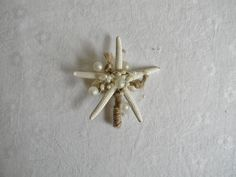 Seashell Boutonnieres Starfish Boutonniere by AdariaHomeAccents
